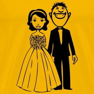 Marriage happy bouquet funny T-Shirts - Men's Premium T-Shirt