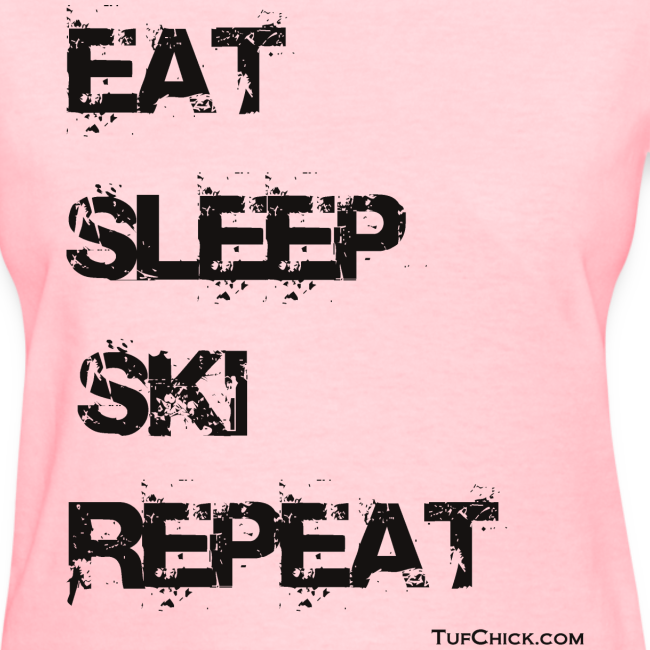 Eat Sleep Ski Repeat - bw - TC
