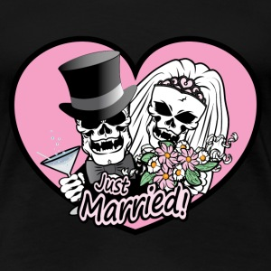 Just Married skulls Women's T-Shirts - Women's Premium T-Shirt