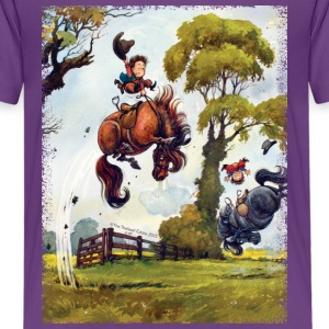 PonyRodeo Thelwell Cartoon Kids' Shirts - Kids' Premium T-Shirt