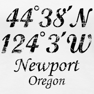 Newport, Oregon T-Shirt Coordinates Vintage Black - Women's Premium T-Shirt