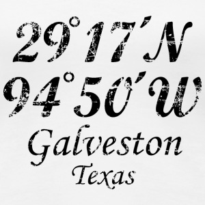 Galveston, Texas Coordinates Vintage Black