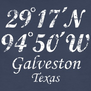 Galveston, Texas Coordinates T-Shirt Vintage White - Women's Premium T-Shirt