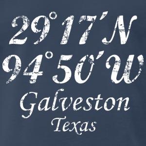 Galveston, Texas Coordinates Vintage White