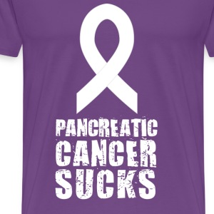 Pancreatic Cancer Sucks (Purple) - Men's Premium T-Shirt