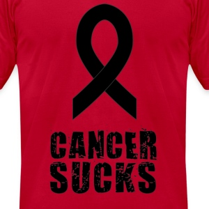 Cancer Sucks (pink/black) - Men's T-Shirt by American Apparel