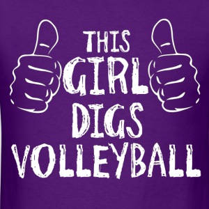 This Girl Digs Volleyball T-Shirts - Men's T-Shirt