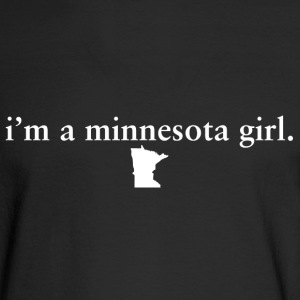 Minnesota Girl Pride Proud T-Shirt Tee Top shirt Long Sleeve Shirts - Men's Long Sleeve T-Shirt