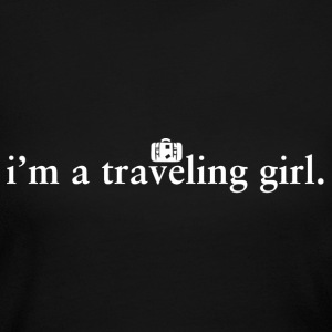 Traveling Girl Pride Proud T-Shirt Tee Top Shirt Long Sleeve Shirts - Women's Long Sleeve Jersey T-Shirt