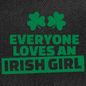 Everyone loves an Irish Girl Caps - Snap-back Baseball Cap