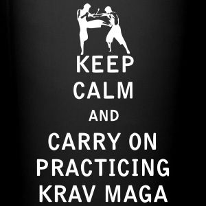 Keep Calm and Carry On Practicing Krav Maga - Full Color Mug