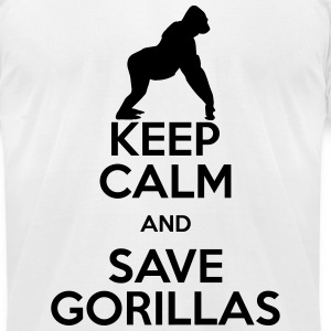 keep calm save gorillas T-Shirts - Men's T-Shirt by American Apparel