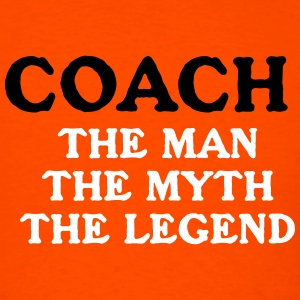 Coach Instructor Myth Icehockey  Legend - Men's T-Shirt