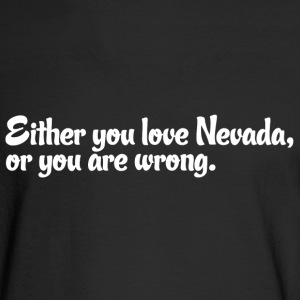 Nevada Love Pride Proud T-Shirt Tee Top Shirt Long Sleeve Shirts - Men's Long Sleeve T-Shirt
