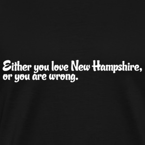New Hampshire Love Pride Proud T-Shirt Tee Top Sh T-Shirts - Men's Premium T-Shirt