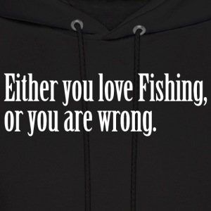 Fishing Love Pride Proud T-Shirt Tee Top Shirt Hoodies - Men's Hoodie