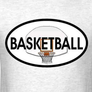 Basketball Oval T-Shirts - Men's T-Shirt