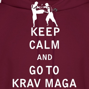 Keep Calm and Go To Krav Maga - Men's Hoodie