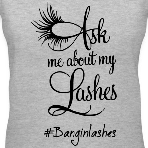 Ask Me About My Lashes Shirt - Women's V-Neck T-Shirt