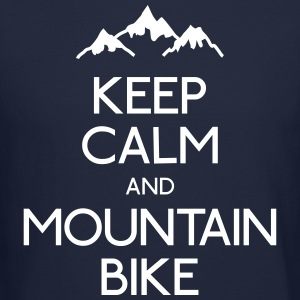 keep calm mountain bike Long Sleeve Shirts - Crewneck Sweatshirt
