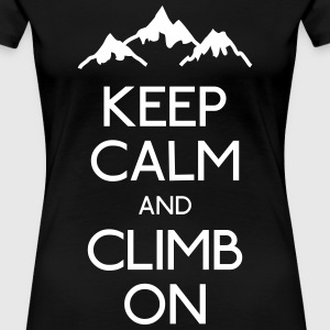 keep calm rock climbing Women's T-Shirts - Women's Premium T-Shirt