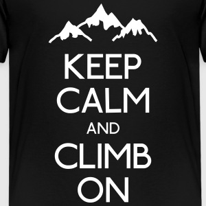 keep calm rock climbing Kids' Shirts - Kids' Premium T-Shirt