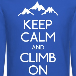 keep calm rock climbing Long Sleeve Shirts - Crewneck Sweatshirt