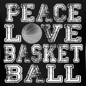 Peace, Love, Basketball T-Shirts - Men's T-Shirt