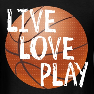 Live, Love, Play T-Shirts - Men's T-Shirt