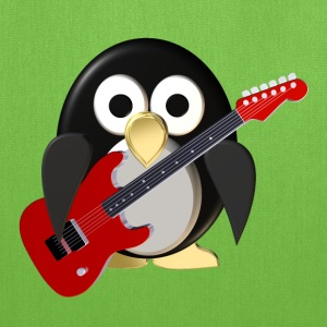 Funny penguin with guitar Bags & backpacks - Tote Bag