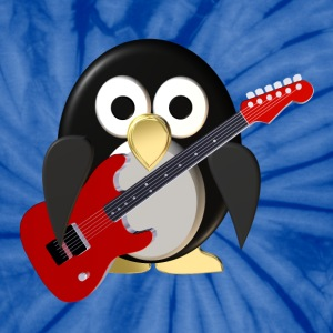 Funny penguin with guitar T-Shirts - Unisex Tie Dye T-Shirt