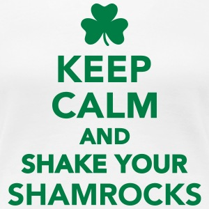 Keep calm and shake your shamrocks Women's T-Shirts - Women's Premium T-Shirt