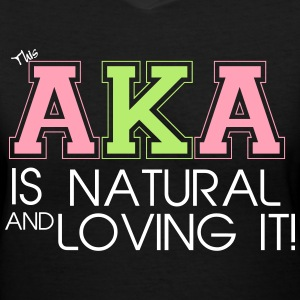 NaturalAKA - Custom Design - Women's V-Neck T-Shirt