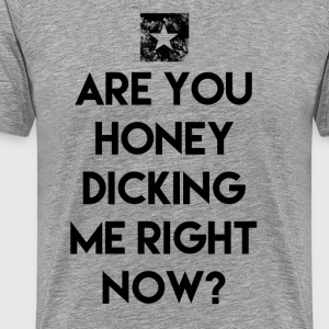 ARE YOU HONEY DICKING ME RIGHT NOW?  T-Shirts - Men's Premium T-Shirt