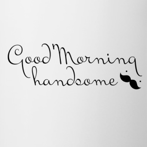 Good Morning Handsome mugs - Contrast Coffee Mug