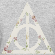 Design ~ Deathly Hallows (Floral) - Women's T-Shirt