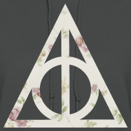 Design ~ Deathly Hallows (Floral) - Women's Hoodie