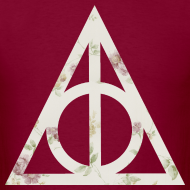 Design ~ Deathly Hallows (Floral) - Men's T-Shirt