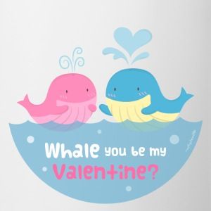 Be My Valentine Whale Pun Mugs & Drinkware - Coffee/Tea Mug