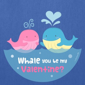 Be My Valentine Whale Pun Bags & backpacks - Tote Bag