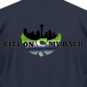 FFF_City on my Back_blk T-Shirts - Men's T-Shirt by American Apparel