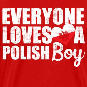 I Love Polish Boys T-Shirts - Men's Premium T-Shirt