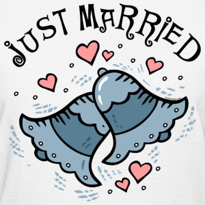 Wedding Bells Just Married Women's T-Shirts - Women's T-Shirt