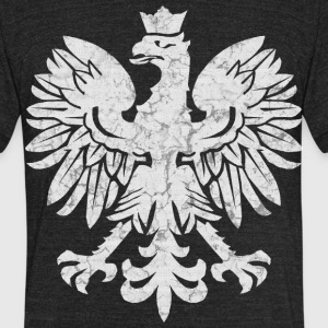 Polish Eagle Halftone T-Shirts - Unisex Tri-Blend T-Shirt by American Apparel
