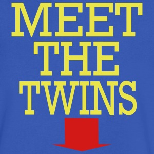 MEET THE TWINS - Men's V-Neck T-Shirt by Canvas