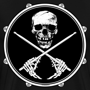 Drummer Pirate Skull - Men'sT Shirt. - Men's Premium T-Shirt