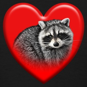 Red Raccoon Heart Ladies T Shirt - Women's T-Shirt