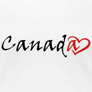 Canada with a stylish red heart - Women's Premium T-Shirt