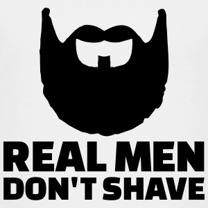 Real men don't shave Kids' Shirts - Kids' Premium T-Shirt