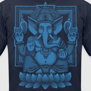 Ganesh Blue Halftone T-Shirts - Men's T-Shirt by American Apparel